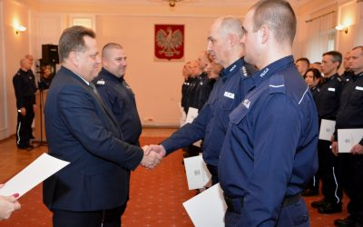 Inauguracja pilotażowego programu kamer na mundurach oraz wyróżnienia dla podlaskich policjantów