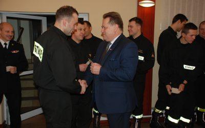 Wręczenie nagród dla strażaków z województwa podlaskiego