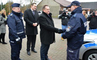 Przekazanie pojazdów służbowych Komendzie Powiatowej Policji w Sokółce