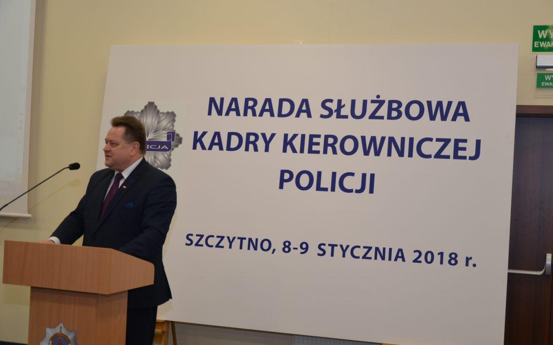 Doroczna odprawa kadry kierowniczej Policji w Szczytnie