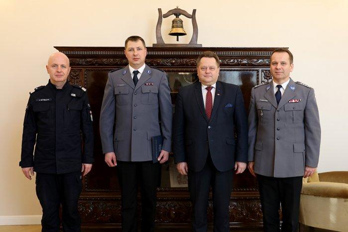 Wręczenie powołania na stanowisko zastępcy Komendanta Wojewódzkiego Policji w Kielcach