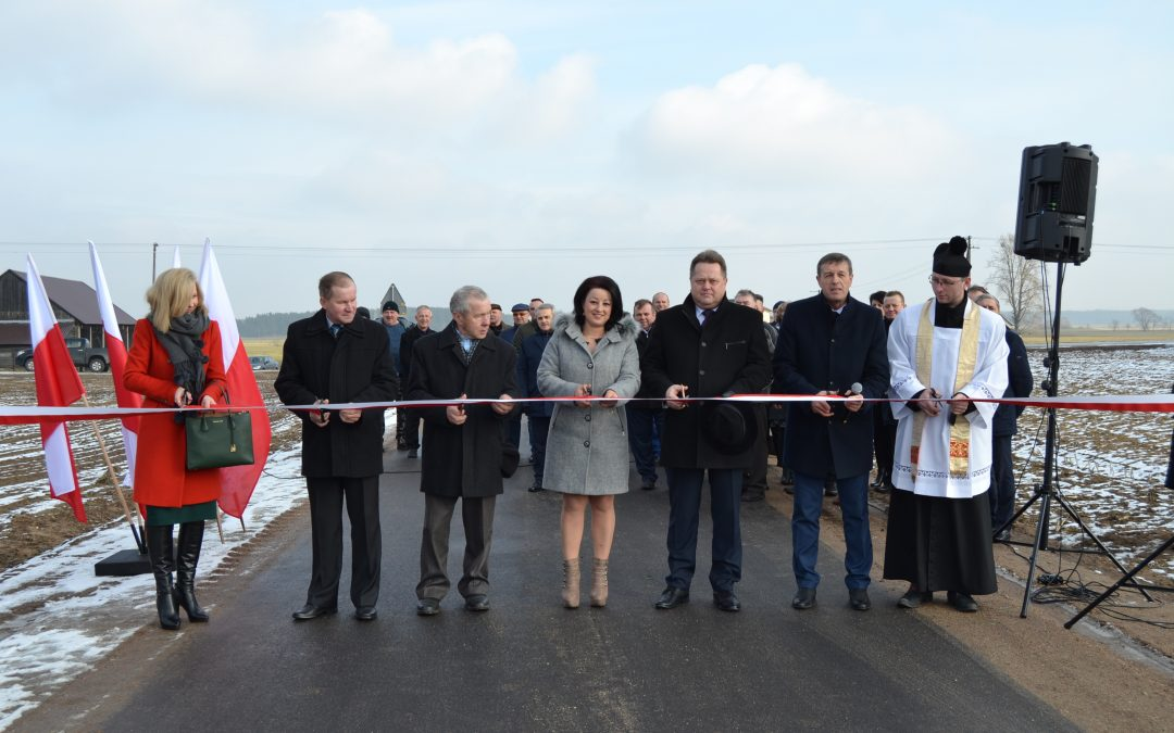 Otwarcie drogi w gminie Turośl