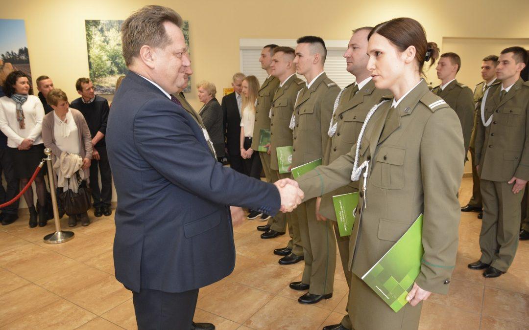 Ślubowanie funkcjonariuszy Podlaskiego Oddziału Straży Granicznej