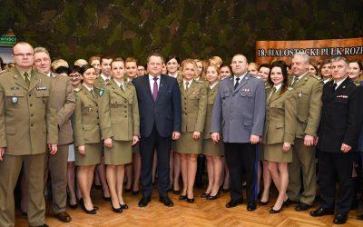 Spotkanie z funkcjonariuszkami służb mundurowych z województwa podlaskiego