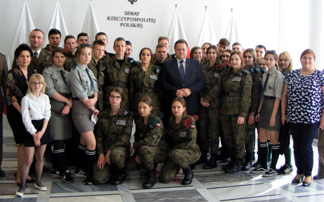 Wizyta w Sejmie młodzieży klas mundurowych z Białegostoku