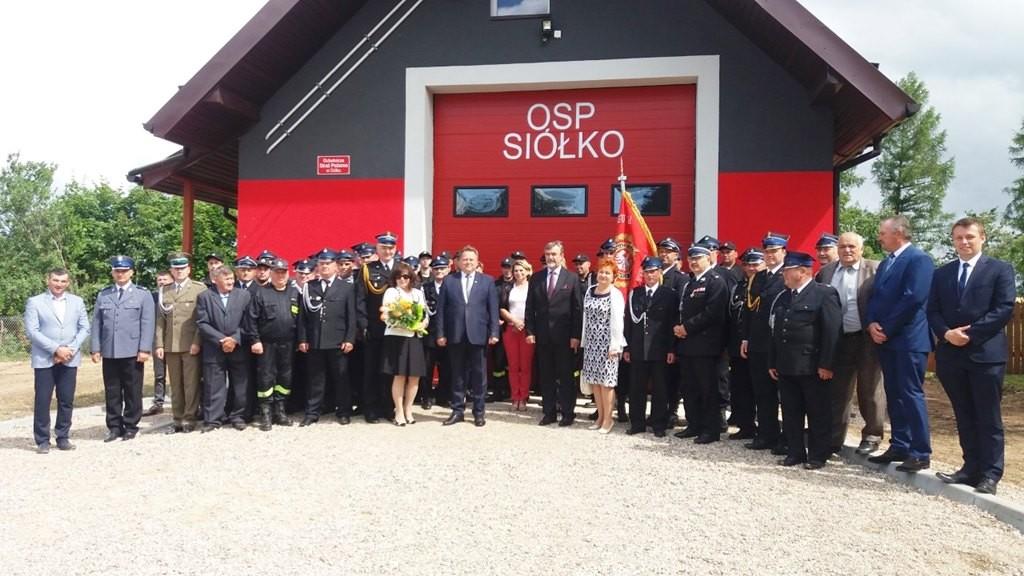 Otwarcie nowej remizy OSP w gminie Lipsk