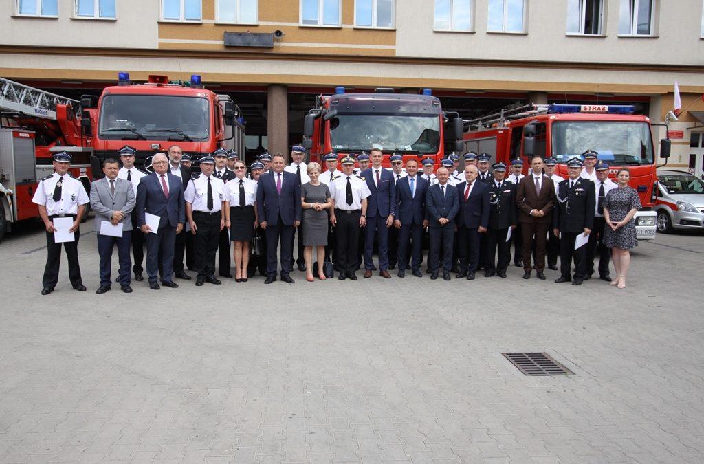 Wsparcie finansowe na zakup samochodów dla Ochotniczych Straży Pożarnych województwa podlaskiego