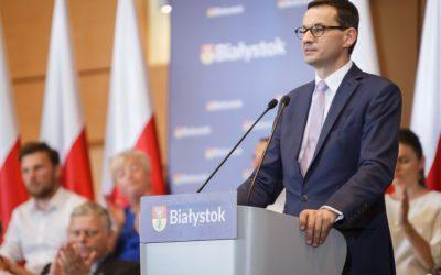 Wizyta Premiera Mateusza Morawieckiego w Białymstoku