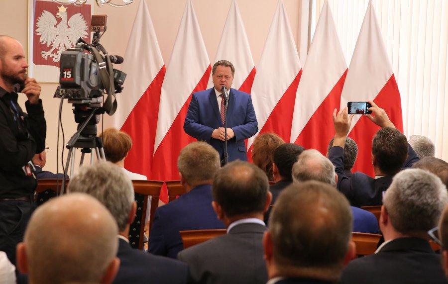 Wręczenie promes dla samorządowców z województwa świętokrzyskiego