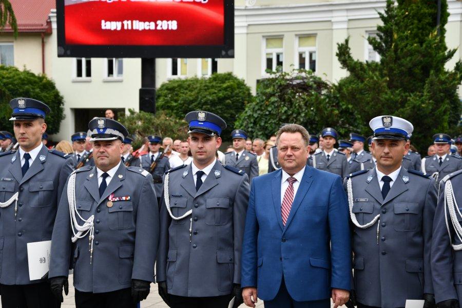 Obchody Święta Policji w Łapach