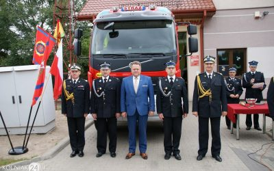 OSP Zabiele z nowym wozem strażackim