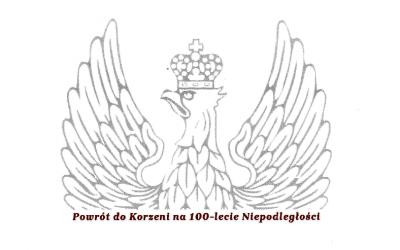 """Podziękowanie za wsparcie projektu """"Powrót do Korzeni na 100-lecie Niepodległości"""""""