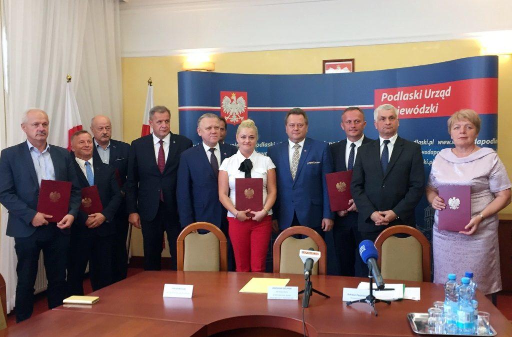 Wręczenie promes samorządowcom z województwa podlaskiego
