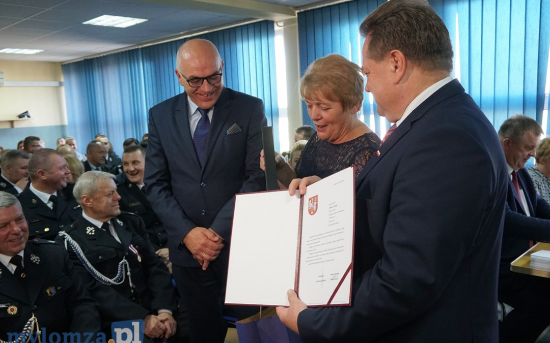 Podziękowanie za działalność na rzecz Powiatu Łomżyńskiego