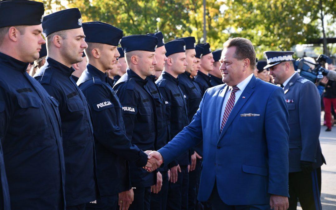 Ślubowanie policjantów garnizonu podlaskiego