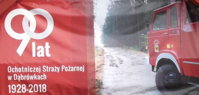 Podziękowanie jednostki OSP w Dąbrówkach