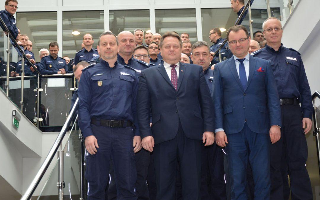 Roczna odprawa kadry kierowniczej Policji w Szczytnie