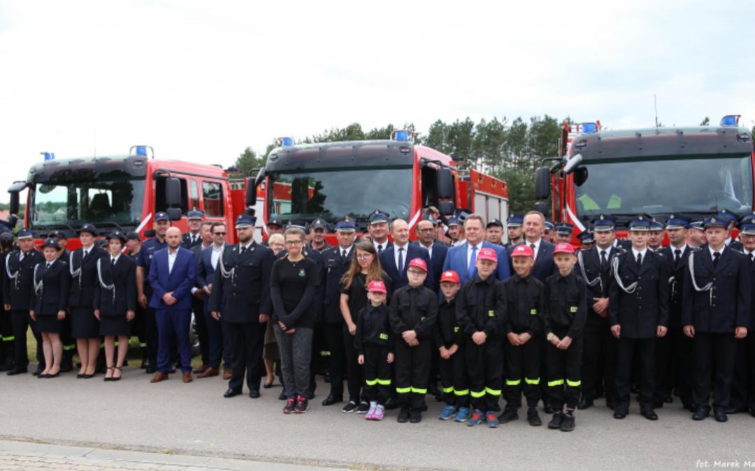 Nowe samochody ratowniczo-gaśnicze dla jednostek OSP z powiatu siemiatyckiego