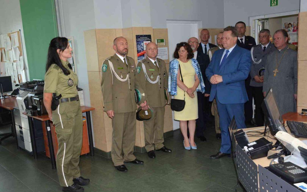 Wizyta w Placówce Straży Granicznej w Kuźnicy