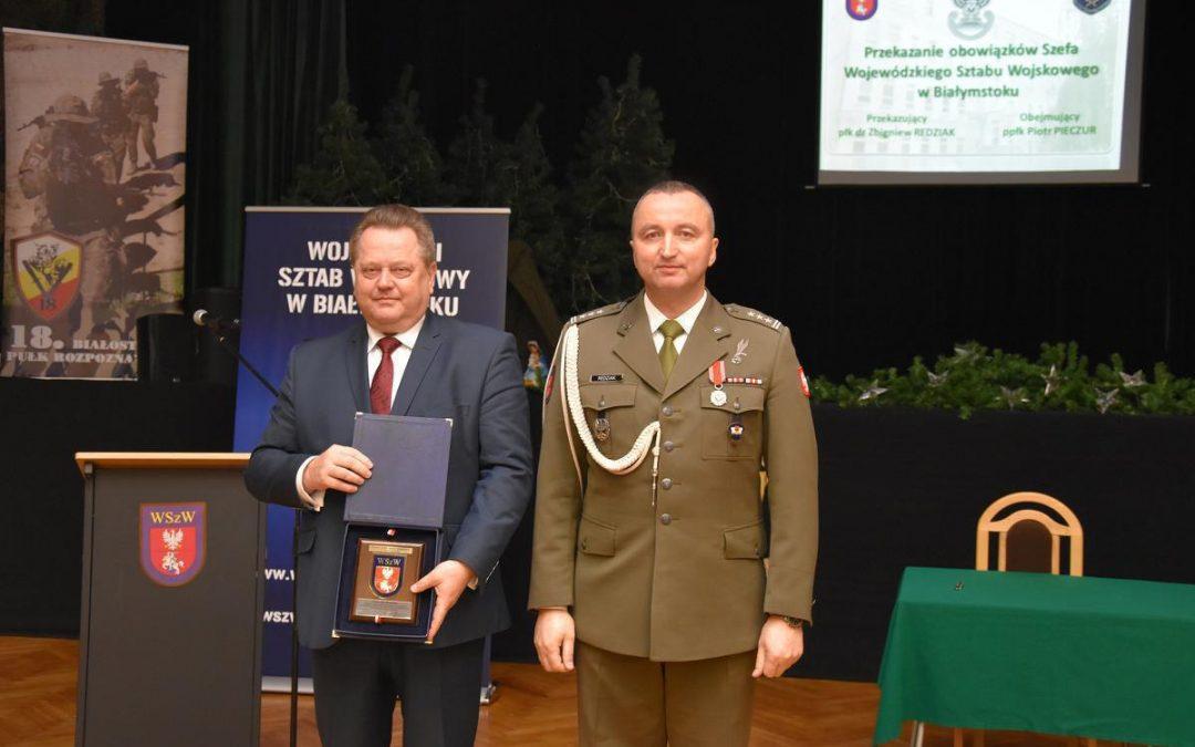 Przekazanie obowiązków Szefa Wojewódzkiego Sztabu Wojskowego w Białymstoku