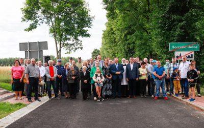 Otwarcie drogi powiatowej Horczaki Dolne – Horczaki Górne