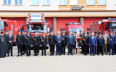 Uroczystość pożegnania Komendanta Wojewódzkiego Państwowej Straży Pożarnej