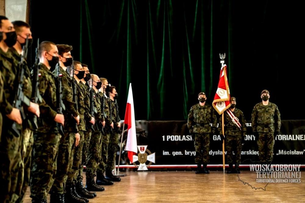 Kolejna przysięga żołnierzy WOT w Białymstoku