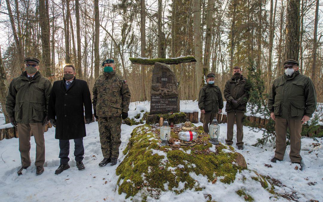 Obchody 158. rocznicy wybuchu Powstania Styczniowego – uroczysko Kozi Rynek w Puszczy Augustowskiej