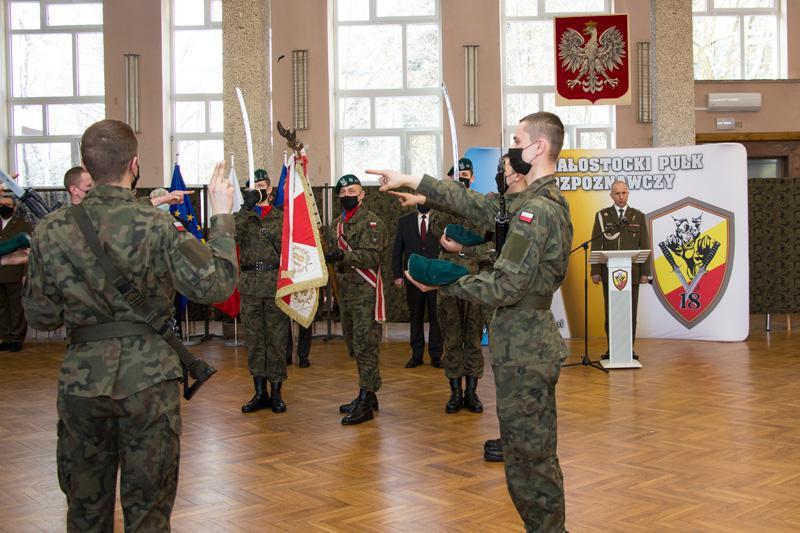Uroczysta przysięga wojskowa w 18. Białostockim Pułku Rozpoznawczym