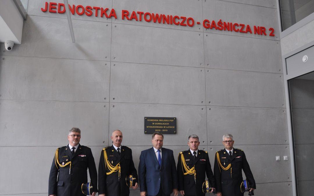 Otwarcie nowej Komendy Miejskiej PSP w Suwałkach
