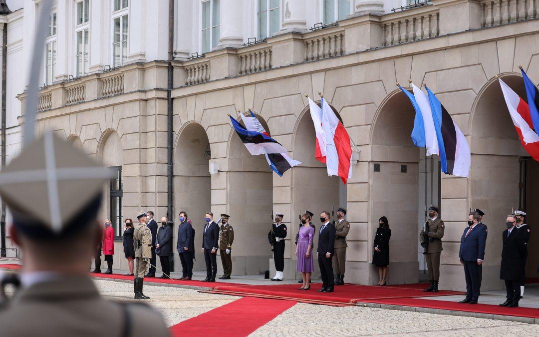 Udział w spotkaniach z Prezydent Estonii Kersti Kaljulaid